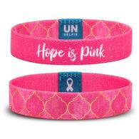 Unselfie Women's Hope is Pink Regal Pattern Wrist Band