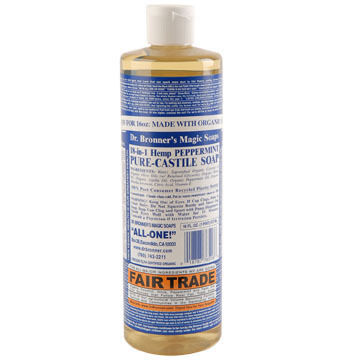 Dr. Bronner's Peppermint Pure-Castile Liquid Soap - 16 oz.