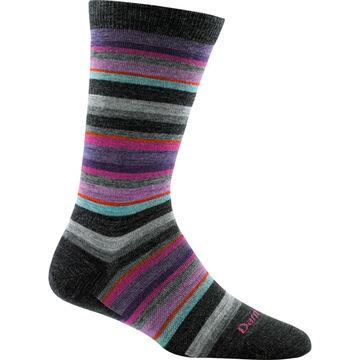 Darn Tough Vermont Womens Sassy Stripe Crew Light Cushion Sock