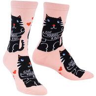 Sock It To Me Women's Love Yourself Crew Sock