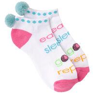 K. Bell Women's Eat Sleep Golf Ankle Sock