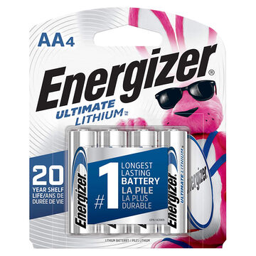 Energizer Ultimate Lithium AA Battery - 4 Pk.
