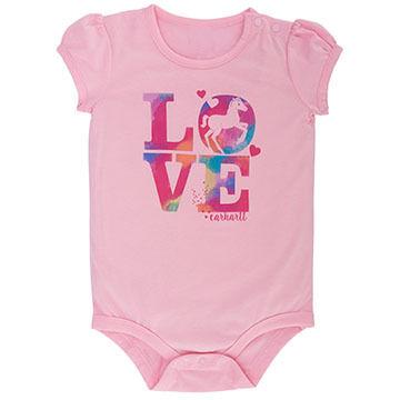 Carhartt Infant/Toddler Girls Love Horses Bodyshirt