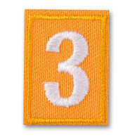 Girl Scouts Official Daisy Iron-On Troop Numeral