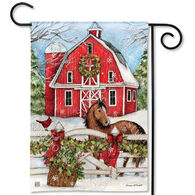 BreezeArt Christmas On The Farm Decorative Garden Flag