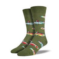 Socksmith Design Men's Trout Crew Sock