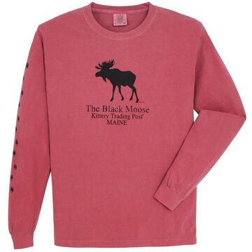 Original Design Mens Kittery Trading Post Black Moose Long-Sleeve T-Shirt