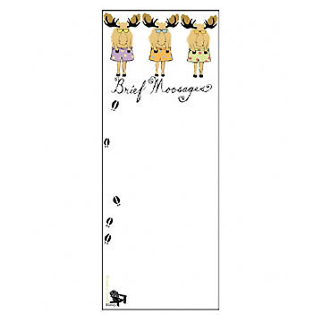 Hatley Little Blue House Brief Moosage Magnetic List Notepad