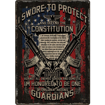 Rivers Edge Guardians of the Constitution Embossed Tin Sign