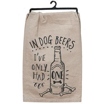 Kay Dee Designs Dog Beers Flour Sack Towel