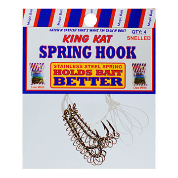 Magic Bait King Kat Snelled Spring Bait Holder Hook - 4 Pk.