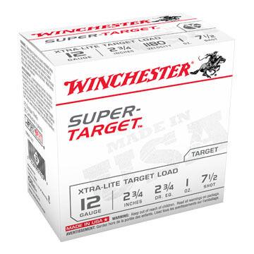 "Winchester Super-Target 12 GA 2-3/4"" 1 oz. #7-1/2 Shotshell Ammo (250)"