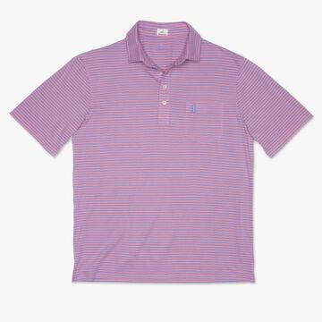 johnnie-O Mens Macon Striped Polo Short-Sleeve Shirt