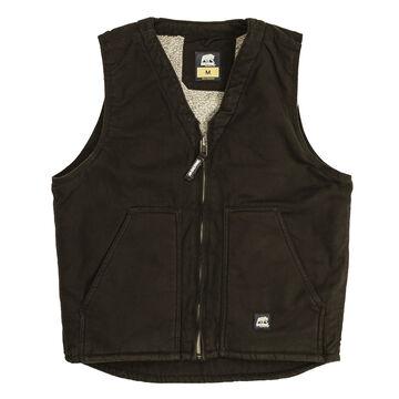 Berne Mens Original Washed Sherpa Lined V-Neck Vest