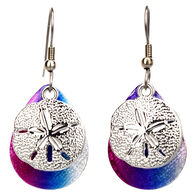 Eye Catching Jewelry Women's Sand Dollar Rainbow Earring