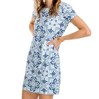 Southern Tide Women's Amelia Tile Print Performance Dress