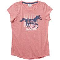 Carhartt Girl's Heather Short-Sleeve T-Shirt