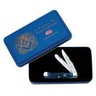 W.R. Case & Sons Trapper Bone Folding Pocket Knife w/ Masonic Gift Tin