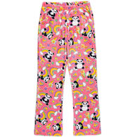 Candy Pink Girl's Panda Pajama Pant