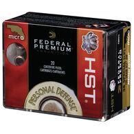 Federal Premium Personal Defense Micro HST 38 Special +P 130 Grain JHP Handgun Ammo (20)