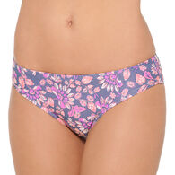 Hot Water Women's Flower Power Wide Hipster Swimsuit Bottom