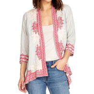 Johnny Was Women's Camille Draped Cardigan