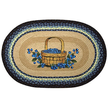 Capitol Earth Oval Blueberry Braided Rug