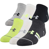 Under Armour Boys' UA Essential Lite No Show Sock, 6/pk