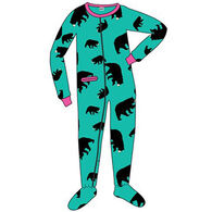 Lazy One Toddler Girls' Timberland Bear Footeez Pajama