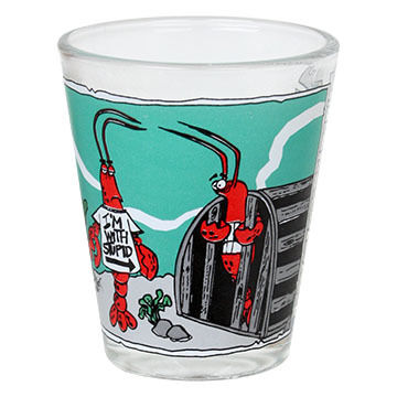 Entertain Ya Mania I'm With Stupid Shot Glass
