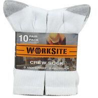 Worksite Men's Crew Sock, 10-Pack