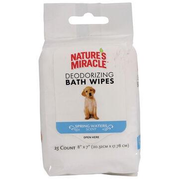 Natures Miracle Deodorizing Dog Bath Wipe - 25 Pk.