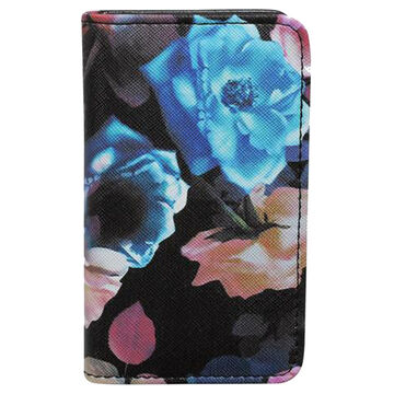 Buxton Womens Midnight Roses - RFID Snap Card Case
