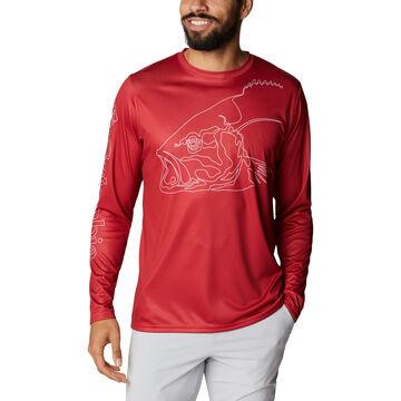 Columbia Mens PFG Terminal Tackle Running Line Long-Sleeve Shirt