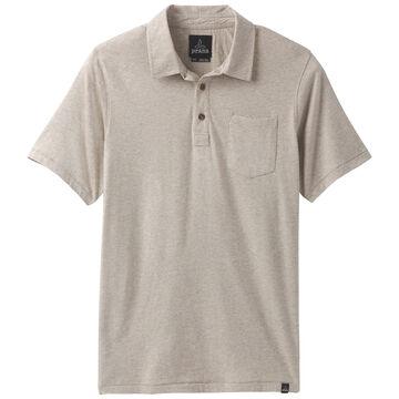 prAna Mens Organic Cotton Polo Short-Sleeve Shirt