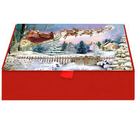 LPG Greetings Here Comes Santa Claus w/Keepsake Box Christmas Cards