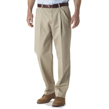 Haggar Men's Big & Tall Work To Weekend Pleated Pant