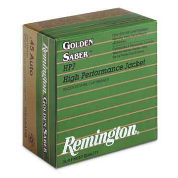 Remington Golden Sabre HPJ 45 Auto (+P) 185 Grain JHP Handgun Ammo (25)