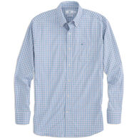 Southern Tide Men's Independence Plaid Intercoastal Performance Sport Long-Sleeve Shirt