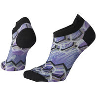 SmartWool Women's PhD Run Ultra Light Hex Print Micro Sock