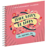 Think Happy, Be Happy 2018 Engagement Calendar by Workman Publishing