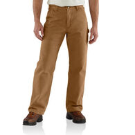 Carhartt Men's Washed Duck Flannel-Lined Dungaree Pant