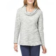 Habitat Women's Heather Tuck Pleated Cowl Neck Shirt