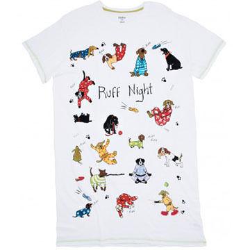 Hatley Womens Ruff Night Short-Sleeve Sleepshirt