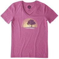 Life is Good Women's Simplify Outdoors Cool Vee Short-Sleeve T-Shirt