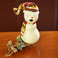 Meadowbrooke Gourds Blizzard Small Girl Snowman Gourd