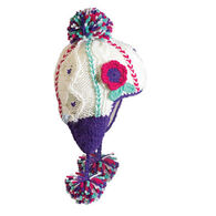 Turtle Fur Girls' Macaroon Earflap Pom Hat