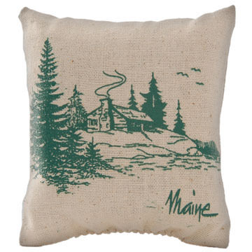 "Maine Balsam Fir 4"" x 4"" Plain Cabin Balsam Pillow"