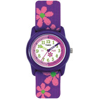 Timex Children's Analog Watch w/ Flowers Strap