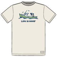 Life is Good Men's Big & Tall Jake Lobster Boat Crusher Short-Sleeve T-Shirt